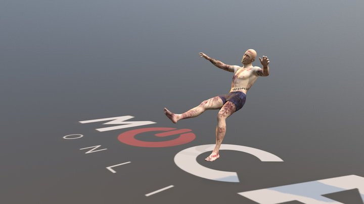 Daz3D Zombie Animation P3 - Michael 8 3D Model
