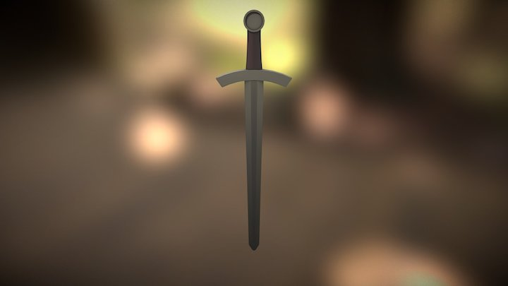 Medieval short sword 3D Model