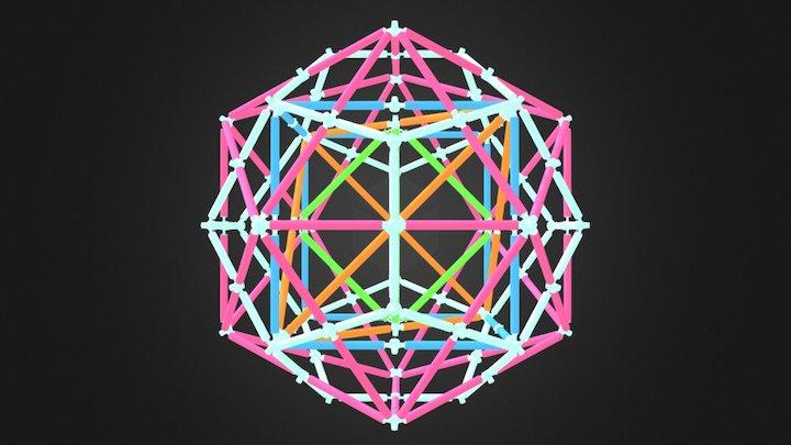 Platonic Compound 3D Model