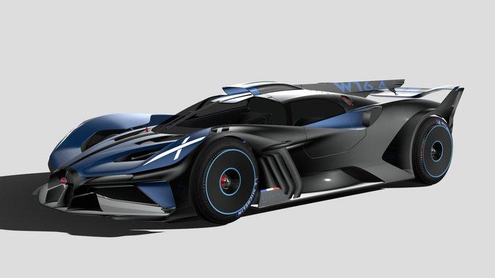 Bugatti Bolide Concept 2020 3D Model