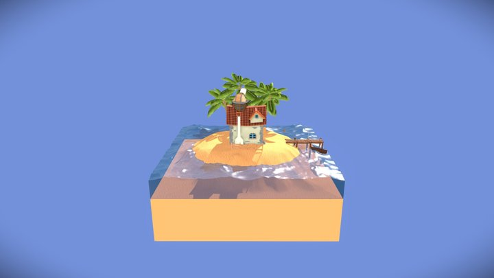Casa En Una Isla - WIP 3D Model