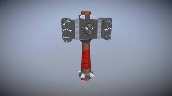 Handpainted Hammer 3D Model