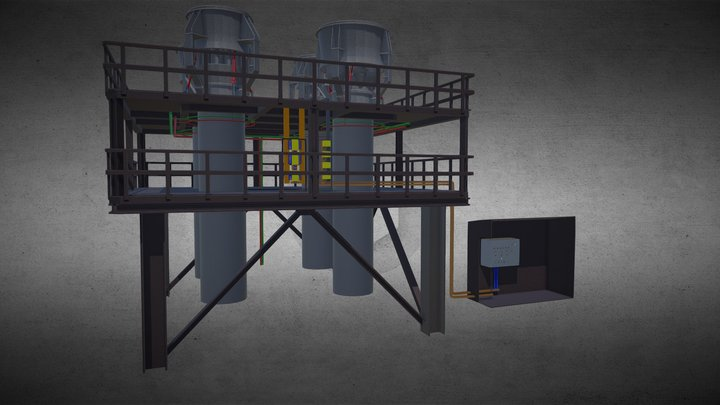 Flares for the petrochemical industry 3D Model