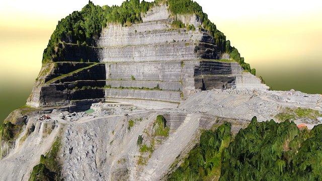 3D Model Quarry Cava UAV Drone 3D Model