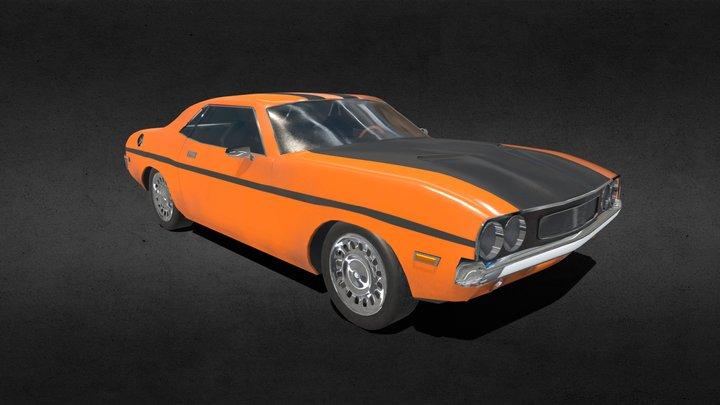 American Muscle car 3D Model