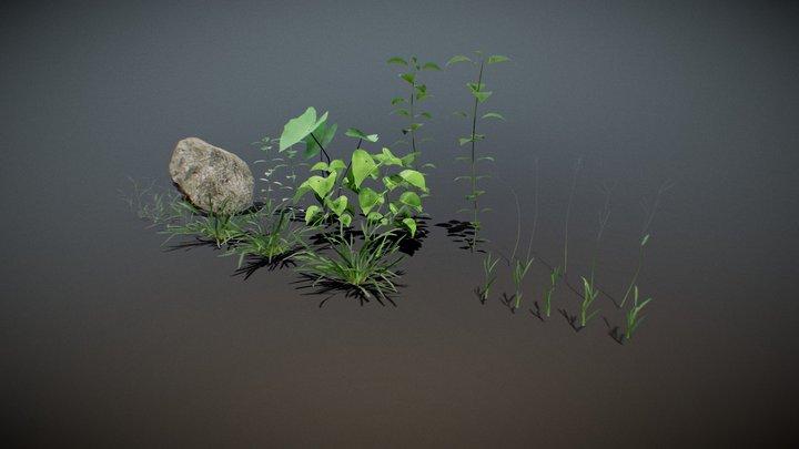 NatureVegetationPackV-01 3D Model