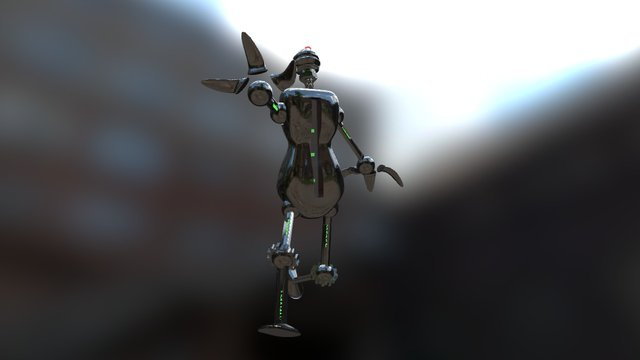 Robot (old) 3D Model