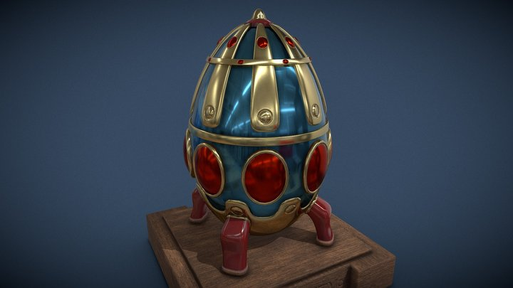 Egg  casket 3D Model