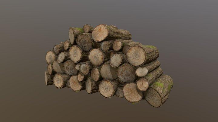 Firewood pile 3D Model