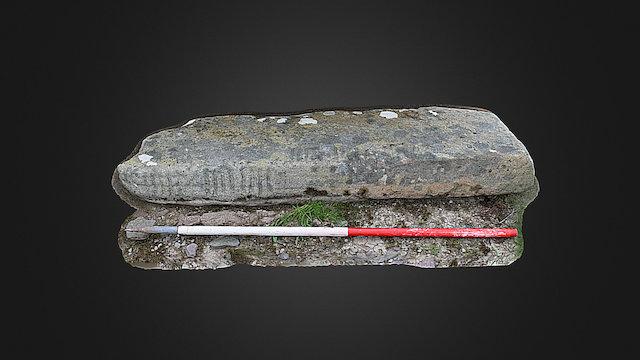 Rathduff II ogham stone (textured) 3D Model