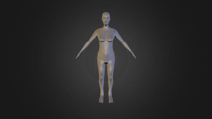 Sketchfab Female Mesh Export3 3D Model