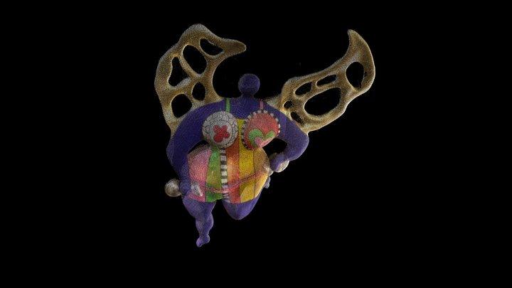 L'ange protecteur – Niki de Saint Phalle 3D Model