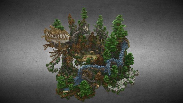 Minecraft build - Sky Lobby 3D Model