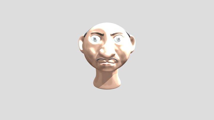 Cartoon Head 4 3D Model