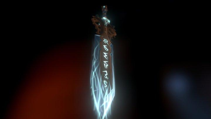 Edge of The Fallen - WoW Death Knight Sword 3D Model