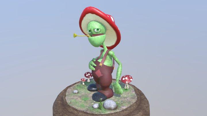 Mushroom Guy 3D Model