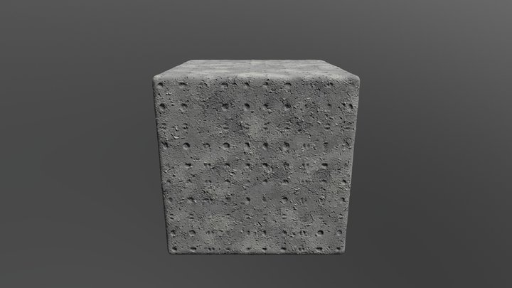 Gray concrete texture 3D Model