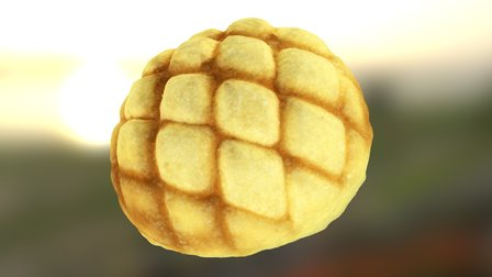 The Melon Bread-2 3D Model