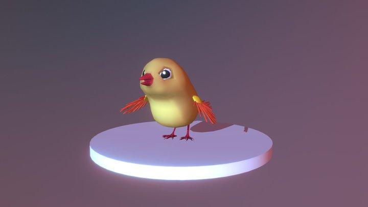 bird Fly 3D Model