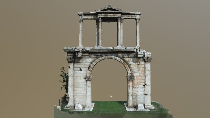 Hadrian's Gate (Athens) 3D Model