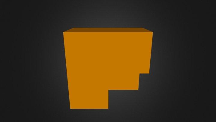 Orange Puzzle Cube Part 3D Model