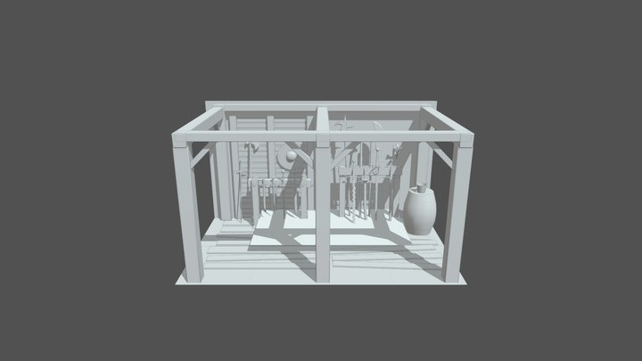 Medieval Armory 3D Model