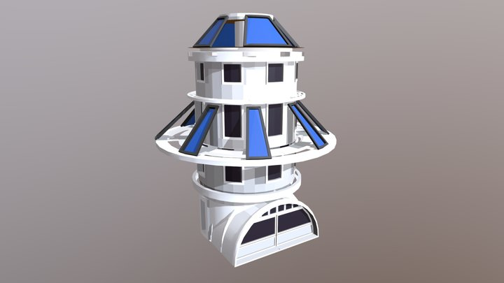 Solar Base 3D Model