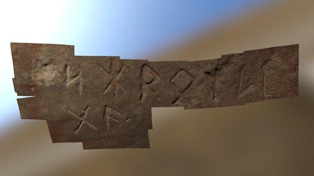 Narragansett Rune Stone Inscription 3D Model