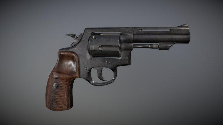 Revolver .357 Magnum 3D Model