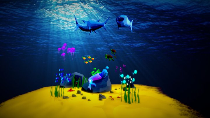 Low Poly Sea Life Challenge 3D Model