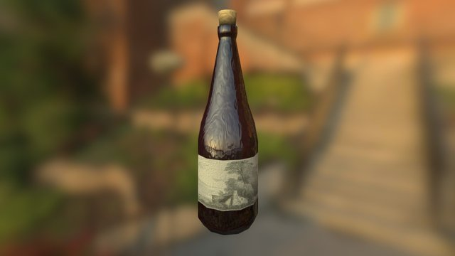 Cheap Imperial Wine 3D Model