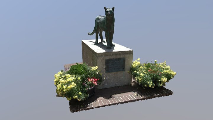 Clyde The Cougar at the College of Charleston 3D Model