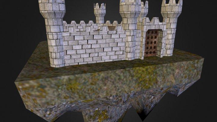 Floating Castle 3D Model