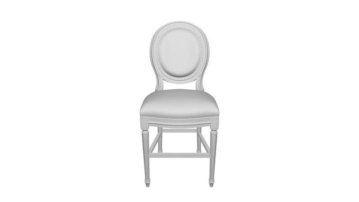 Bar chair Cream Vintage French Round DG-home 3D Model