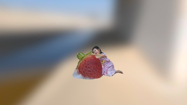 strawberry girl 3D Model