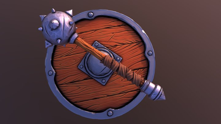Shield And Bulava 3D Model