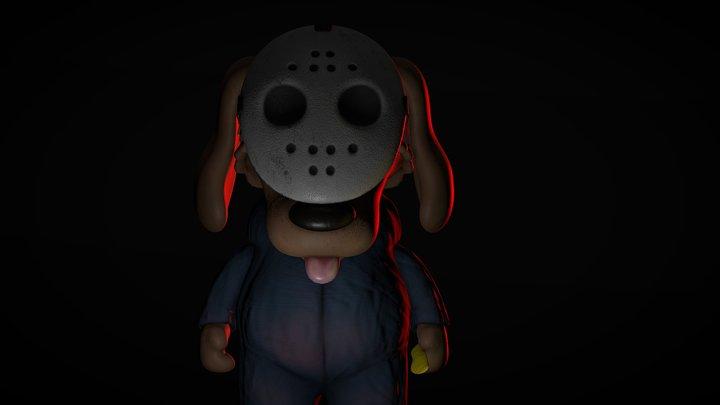 Little Spooky Dog 3D Model
