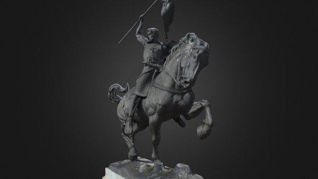 El Cid Horseback Statue Balboa Park, SD 3D Model
