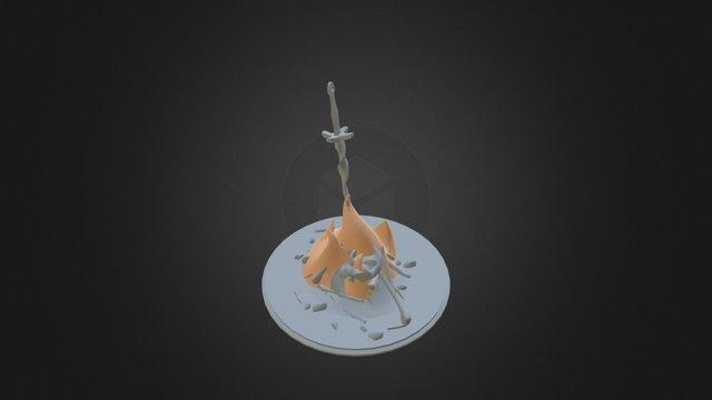Dark Souls- Sword In Fire 3D Model