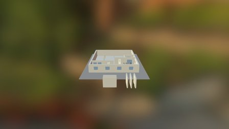 Plattegrond-indeling-1-desk-positie-3 3D Model