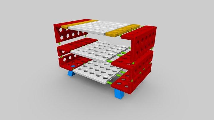 Shelf - complete set - plan 3D Model