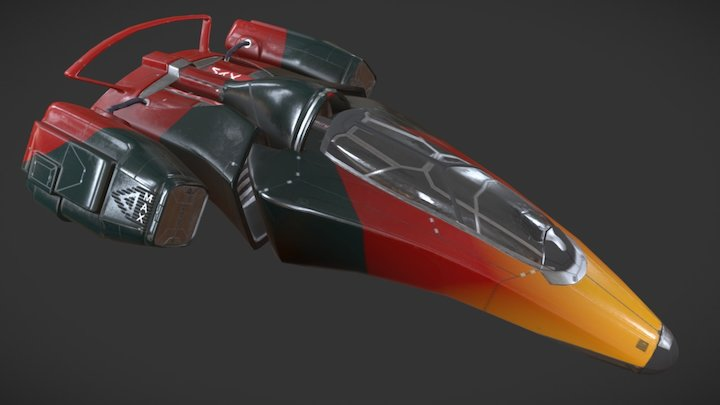 MAX Delta DL Spaceship 3D Model
