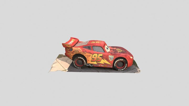 LEGO Lightning McQueen 3D Model