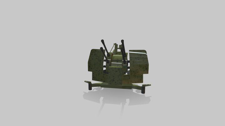Flakvierling 38 3D Model