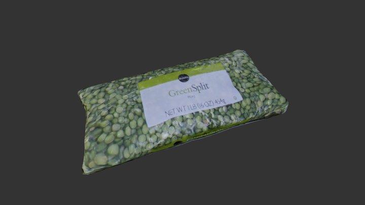 Green Split Peas Bag 3D Model