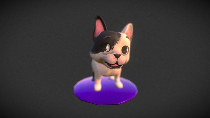 French bulldog High poly 3D Model