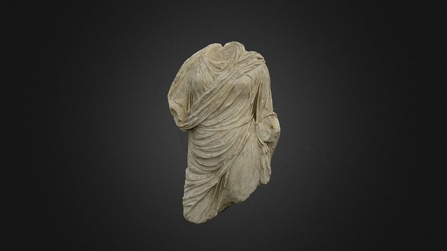 Statua funeraria Giulio-Claudia 3D Model