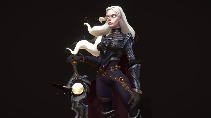 Irene Black Light 3D Model