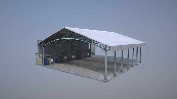 MilitaryBase_PortoVelho_Hangar_03 3D Model