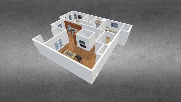 Nissequogue River Floor Plan 3D Model